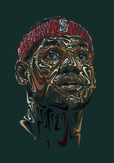 Portrait Illustrations based on the Nike Swoosh - JOQUZ
