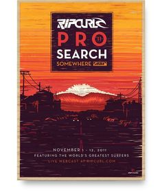 Ripcurl Pro Search #design #graphic #poster #typography