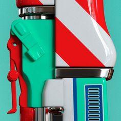 inspirationos #sculpture #gun #colors #chrome #plastic