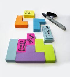 Tetris Sticky Notes #post #it #tetris
