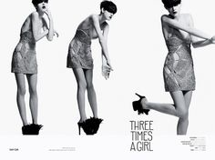 Three Times A Girl   Volt Café   by Volt Magazine #beauty #white #design #graphic #volt #black #photography #art #and #fashion #layout #magazine #typography