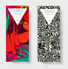 Kyle Poff's vibrant packaging for Compartes Chocolatiers #packaging #chocolate