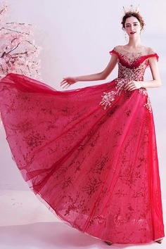 eDressit New Red Shiny Beads Tulle Party Evening Dress (36223602)