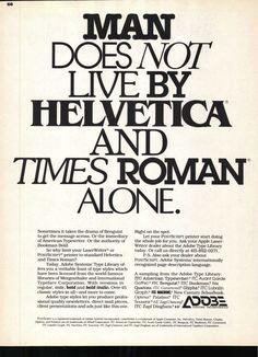adobe ad in ulc.jpg #helvetica #roman #times
