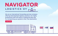 Navigator Logisitcs OY #website #illustration