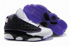Air Jordan 13 Retro White/Black/Purple Women's #shoes