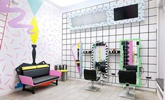 YMS amasing youthful beauty salon with cool modern artistic interior #interior #salon #modern #youthful #artistic #beauty