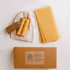 This candle-making kit includes five sheets of beeswax that are rolled to make sweet-smelling candles for special occasions and celebrations. Each beeswax candle is 9 cm tall and will burn brightly for an hour. A delightful activity for the eco-conscious.