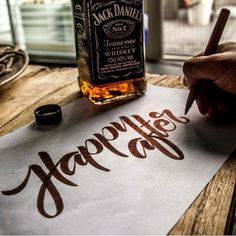 Lettering + Whisky  By Nick • Ketting