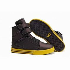 supra tk society coffee yellow women skate shoes #fashion