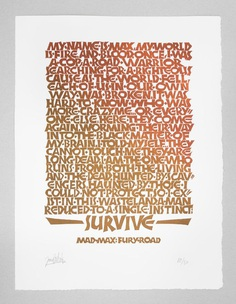 Mad Max Linocut Print — Joan Quirós - Calligraphy & Lettering