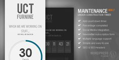 AJDE maintenance mode countdown timer   WP Plugin   CodeCanyon Item for Sale