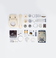 Things Organized Neatly #dial #disassembly #phone #rotary