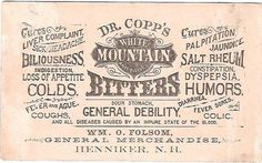 Bitters_Ad #victorian #bitters #vintage #typography