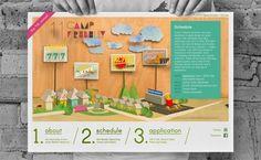 Camp Firebelly 2011 | The Strange Attractor #website #papercraft #diorama #handmade
