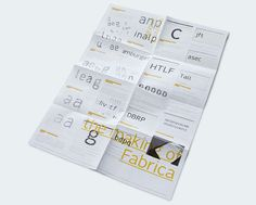 Typeface Fabrica Process Poster — Alvin Kwan