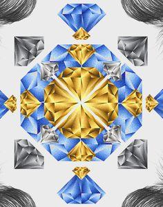 Girl on Behance #diamond #alexandre
