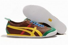 Asics Mexico 66 Chocolate/Yellow/Green/Red Men's #shoes