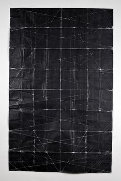 Niall McClellandTapestry - Beaten (2010)toner on paper, folded #geometric #white #black