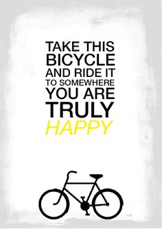 ride this bike #happy #bicycle #simple #minimal #poster #type