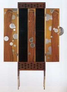 Beautiful Century: Koloman Moser, Armoire, 1900 #1900 #vienna #furniture #art #moser #koloman #armoire #secession