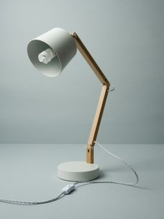 White/Grey Angle Table Lamp 2.0 - Douglas + Bec