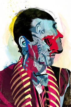 051113 Art Print #abstract #anatomy #illustration #portrait #man #surreal