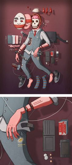 Illustrations by Alex Riegert Waters | Inspiration Grid | Design Inspiration