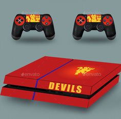 7 Game Console Mockup with Fully Editable PSDs