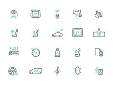 Instamotor Icons #pictogram #icon #sign #motor #set #picto #symbol #car