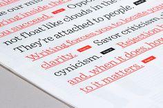 Editorial Design Inspiration: 99U Magazine #design #graphic #editorial #typography