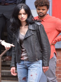 The Defenders Jessica Jones Biker Leather Jacket