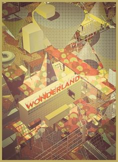 game zone on the Behance Network #abstract #city #landscape #illustration #zone #game