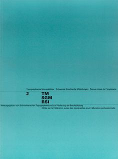 Cover from 1963 Typographische Monatsblätter issue 2
