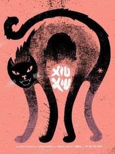 GigPosters.com - Xiu Xiu - Dirty Beaches - Father Murphy #music #illustration #poster