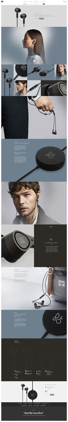 Product BeoPlay H3 Web Design Inspiration