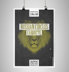 RUSSIAN CIRCLES poster on the Behance Network / Bench.li #poster