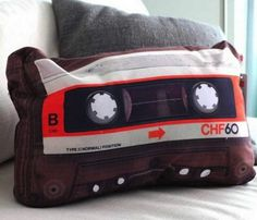 Retro Cassette Pillow #home