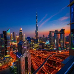 Colorful and Majestic Cityscapes of Dubai by Christopher Wölner-Hanssen