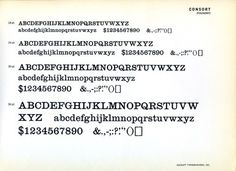 Consort was designed in 1956 by Stephenson Blake, the design was based on the original Clarendon from 1845. #typography