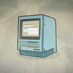 1984 apple macintosh #computer #micahburger #apple #vector #illustration #1984