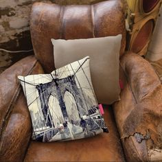 Brooklyn Bridge New York Cushion #pillow #home