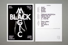 Max Snow / Black Magic / The Days and Nights Festival on Behance #print #black #poster #magic #type