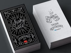 Whisky Taste Vouchers #card #lettering #business #typography