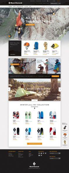 Black Diamond Website Pitch by Ryan Mendes #design #web design #black diamond