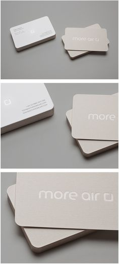 More Air - More Air #card #buckram #embossed #business