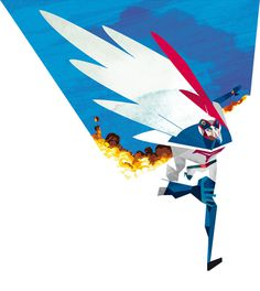 Gatchaman.jpg 625×700 pixels #illustration