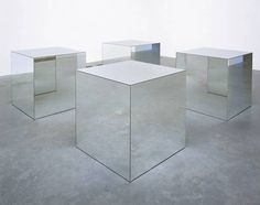 Robert Morris. Untitled. 1965/1971.From the Tate Gallery:Morris's Minimalist sculptures of the mid 1960s consist of rigorously pared dow #mirror #space #cube