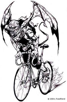 art.skid.700.jpg 461×700 pixels #devil #demon #bike