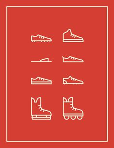 Some sporting shoes and things of that nature. #shoes #icon #design #icons #sports